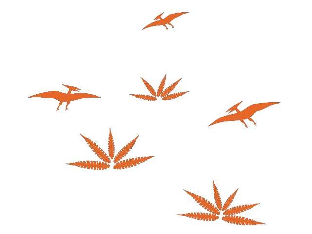 Naklejka dekoracyjna welurowa dinozaury 673044-1 Klimaty Domu