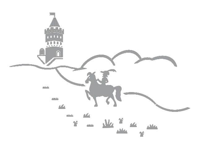 Naklejka dekoracyjna welurowa bajkowy zamek 673045-12 Klimaty Domu