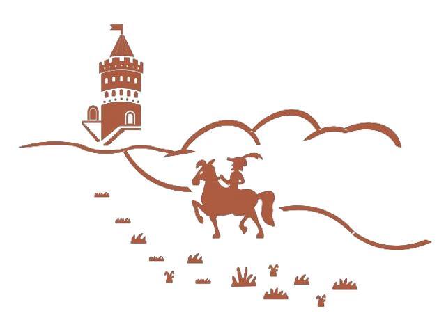 Naklejka dekoracyjna welurowa bajkowy zamek 673045-2 Klimaty Domu