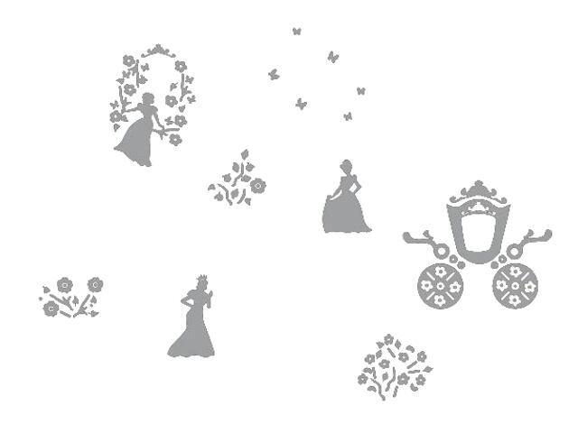 Naklejka dekoracyjna welurowa księżniczki 673046-12 Klimaty Domu