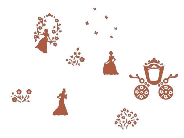 Naklejka dekoracyjna welurowa księżniczki 673046-2 Klimaty Domu