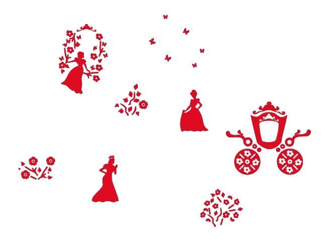 Naklejka dekoracyjna welurowa księżniczki 673046-6 Klimaty Domu