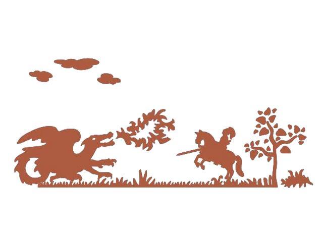 Naklejka dekoracyjna welurowa smok 673047-2 Klimaty Domu