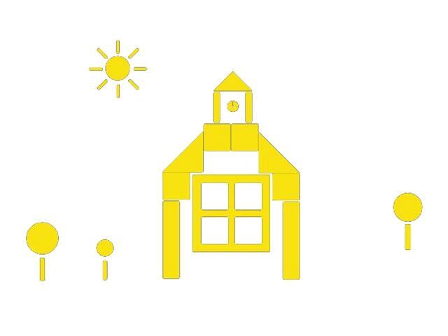 Naklejka dekoracyjna welurowa budynek 673049-3 Klimaty Domu