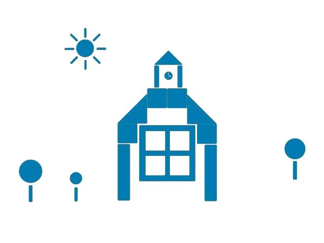 Naklejka dekoracyjna welurowa budynek 673049-4 Klimaty Domu