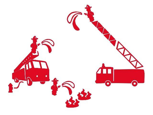 Naklejka dekoracyjna welurowa wóz strażacki 673052-6 Klimaty Domu