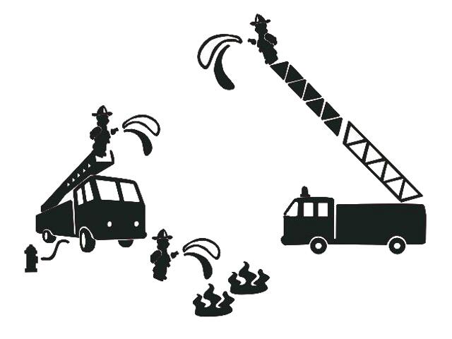 Naklejka dekoracyjna welurowa wóz strażacki 673052-7 Klimaty Domu