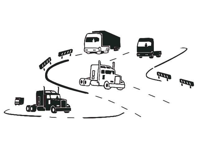 Naklejka dekoracyjna welurowa ciężarówki 673053-7 Klimaty Domu