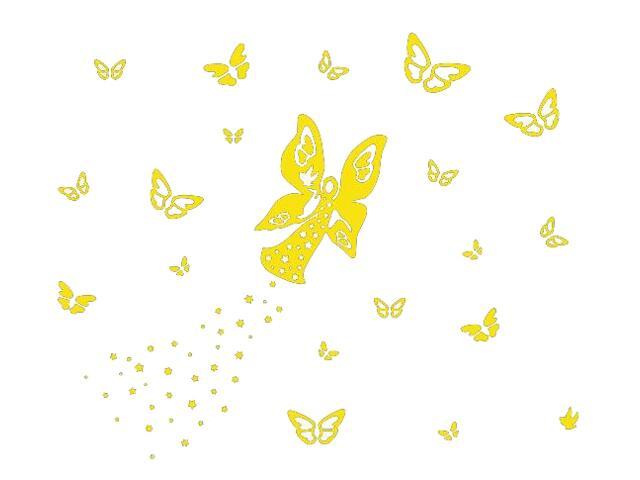 Naklejka dekoracyjna welurowa motyle 673054-3 Klimaty Domu