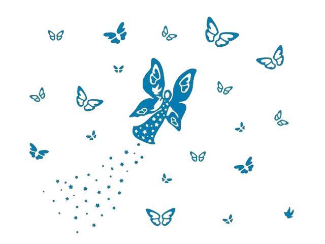 Naklejka dekoracyjna welurowa motyle 673054-4 Klimaty Domu