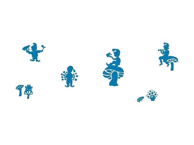 Naklejka dekoracyjna welurowa krasnoludki 673055-4 Klimaty Domu