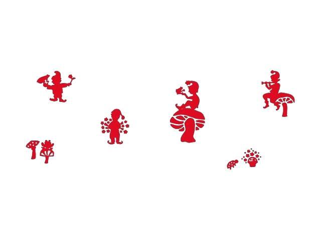 Naklejka dekoracyjna welurowa krasnoludki 673055-6 Klimaty Domu