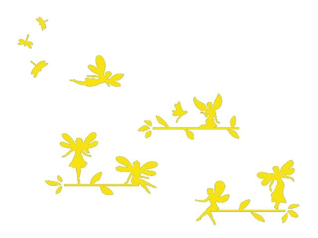 Naklejka dekoracyjna welurowa elfy 673056-3 Klimaty Domu