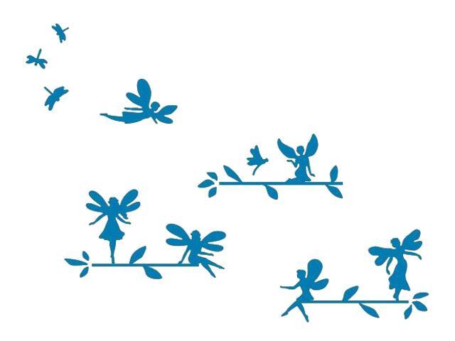 Naklejka dekoracyjna welurowa elfy 673056-4 Klimaty Domu