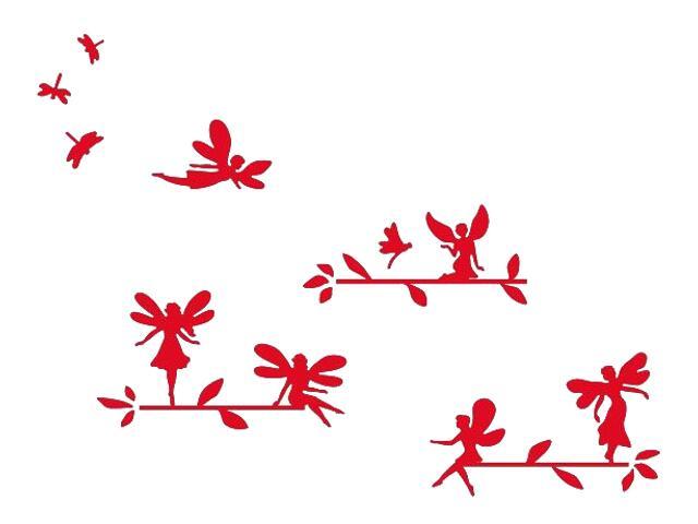 Naklejka dekoracyjna welurowa elfy 673056-6 Klimaty Domu