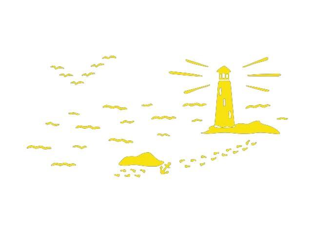 Naklejka dekoracyjna welurowa latarnia morska 673057-3 Klimaty Domu