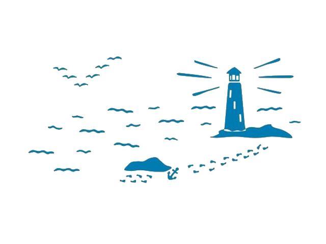 Naklejka dekoracyjna welurowa latarnia morska 673057-4 Klimaty Domu