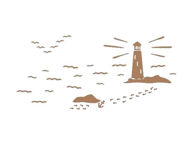 Naklejka dekoracyjna welurowa latarnia morska 673057-8 Klimaty Domu