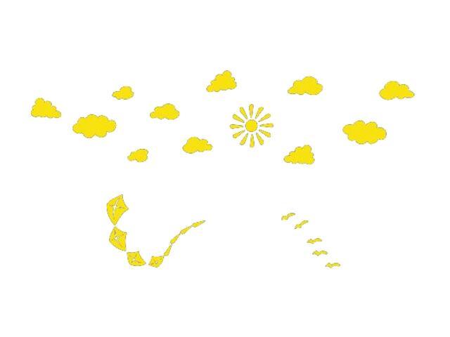 Naklejka dekoracyjna welurowa niebo 673059-3 Klimaty Domu