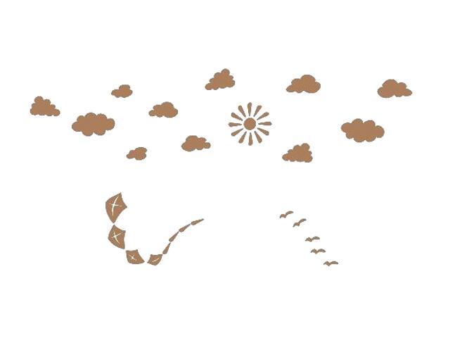Naklejka dekoracyjna welurowa niebo 673059-8 Klimaty Domu