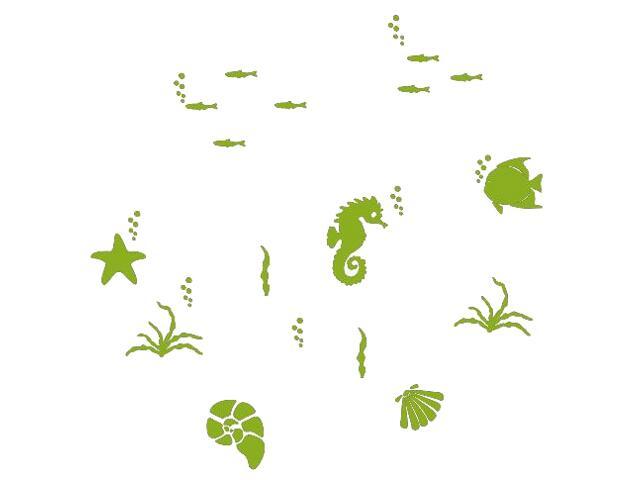 Naklejka dekoracyjna welurowa rybki 673062-5 Klimaty Domu