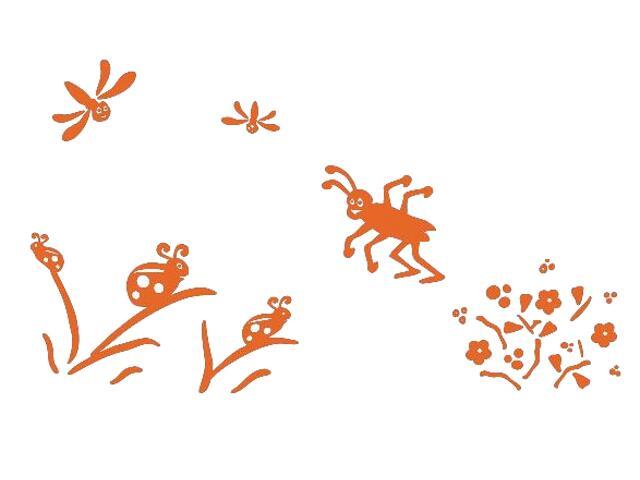 Naklejka dekoracyjna welurowa owady 673063-1 Klimaty Domu