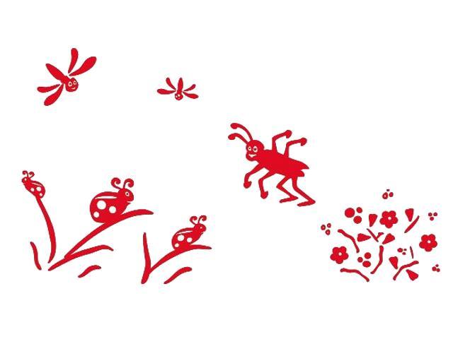 Naklejka dekoracyjna welurowa owady 673063-6 Klimaty Domu