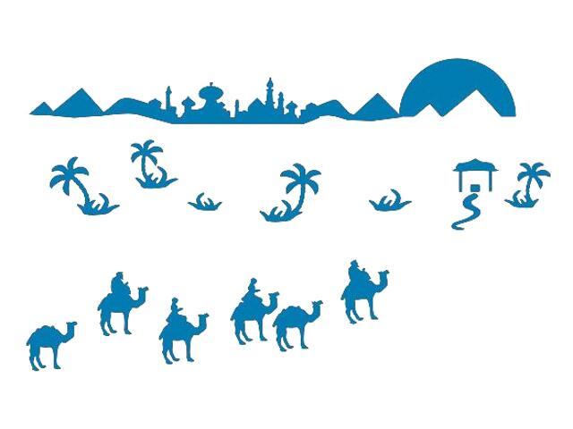 Naklejka dekoracyjna welurowa wielbłądy 673066-4 Klimaty Domu