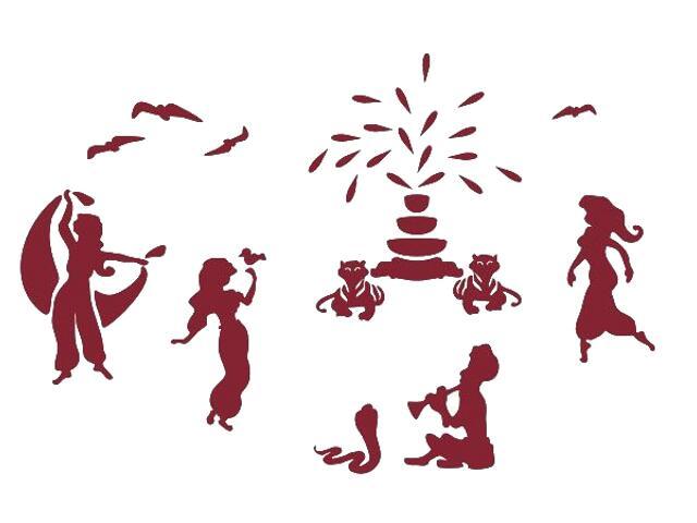 Naklejka dekoracyjna welurowa tańczące postacie 673067-11 Klimaty Domu