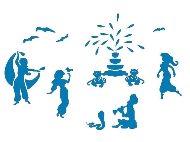 Naklejka dekoracyjna welurowa tańczące postacie 673067-4 Klimaty Domu