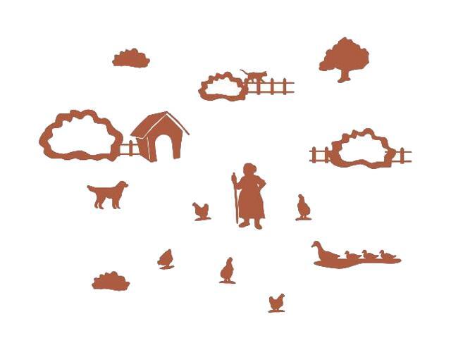 Naklejka dekoracyjna welurowa wieś 673069-2 Klimaty Domu