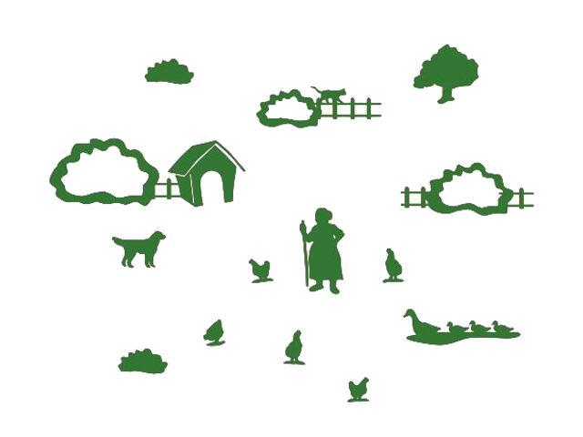 Naklejka dekoracyjna welurowa wieś 673069-9 Klimaty Domu