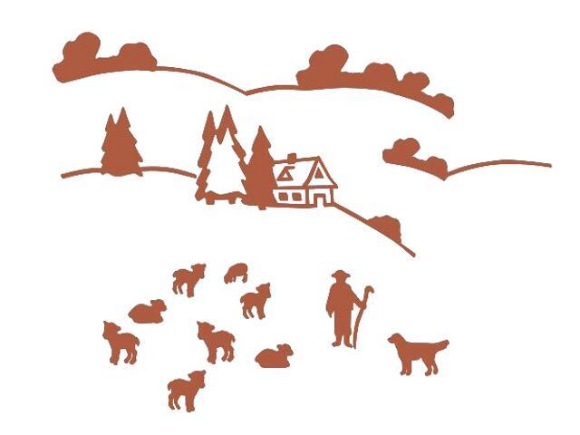 Naklejka dekoracyjna welurowa górska hala 673070-2 Klimaty Domu