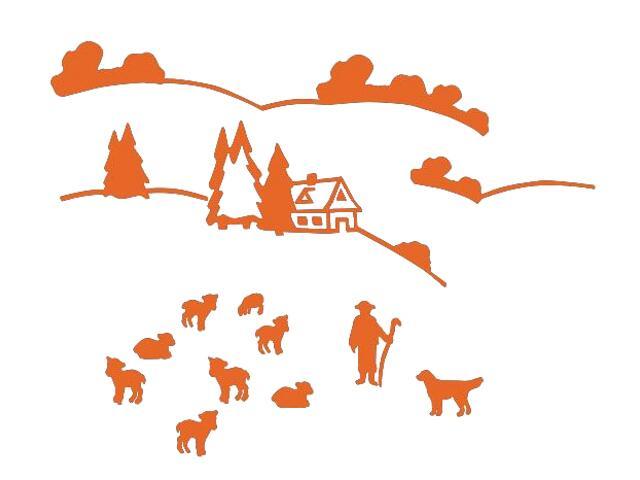 Naklejka dekoracyjna welurowa górska hala 673070-1 Klimaty Domu