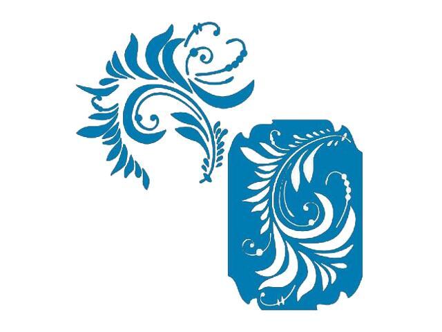 Naklejka dekoracyjna welurowa ornament 671043-4 Klimaty Domu