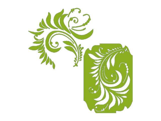 Naklejka dekoracyjna welurowa ornament 671043-5 Klimaty Domu