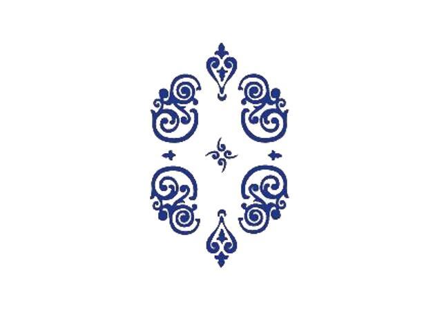 Naklejka dekoracyjna welurowa ornament 671048-13 Klimaty Domu