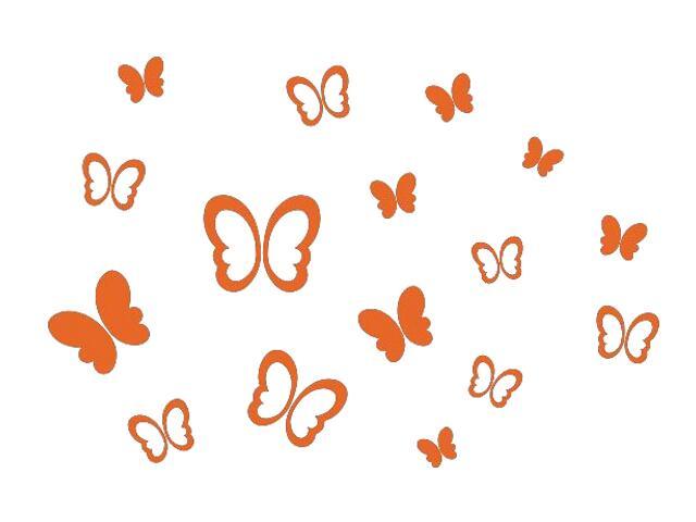 Naklejka dekoracyjna welurowa motyle 673000-1 Klimaty Domu