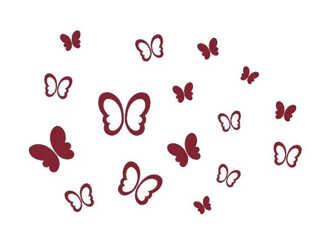 Naklejka dekoracyjna welurowa motyle 673000-11 Klimaty Domu
