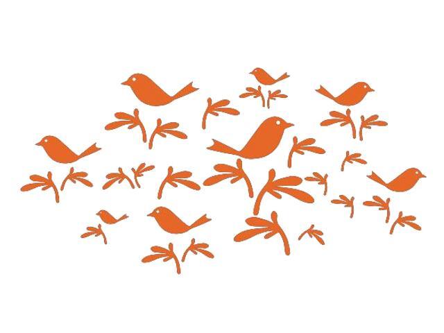 Naklejka dekoracyjna welurowa ptaki 673001-1 Klimaty Domu