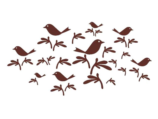 Naklejka dekoracyjna welurowa ptaki 673001-11 Klimaty Domu