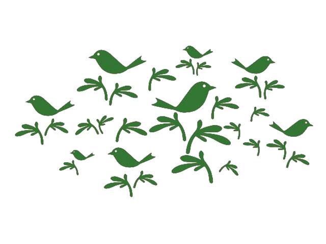 Naklejka dekoracyjna welurowa ptaki 673001-9 Klimaty Domu