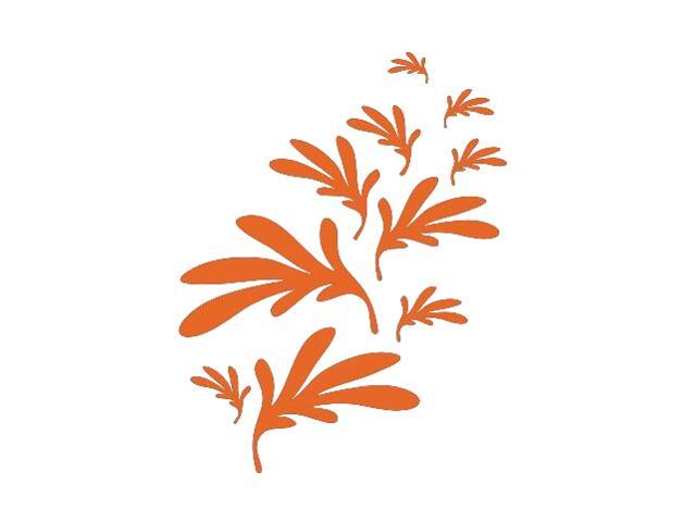 Naklejka dekoracyjna welurowa liście 673002-1 Klimaty Domu