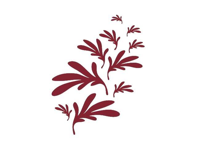 Naklejka dekoracyjna welurowa liście 673002-11 Klimaty Domu