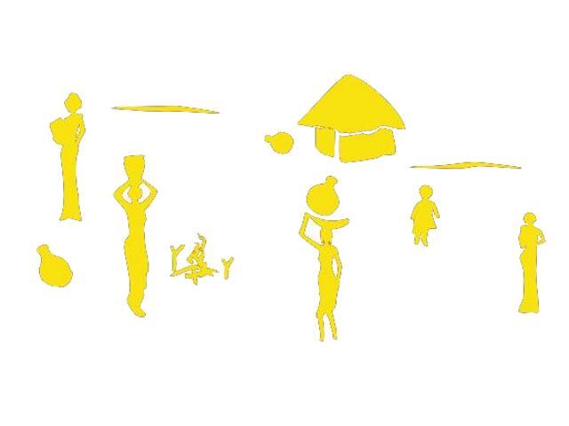 Naklejka dekoracyjna welurowa egipskie postacie 673003-3 Klimaty Domu