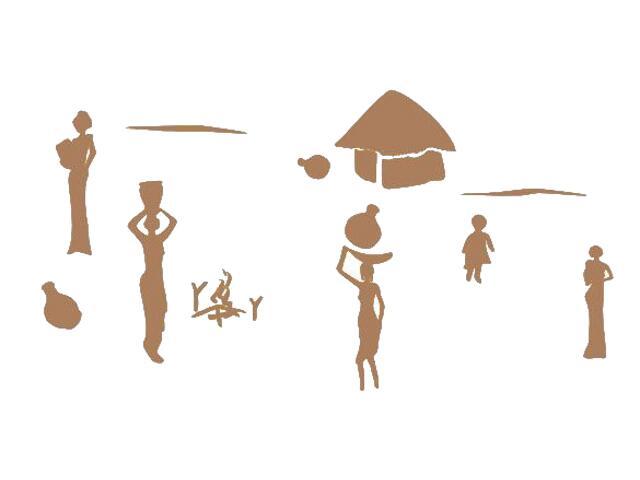Naklejka dekoracyjna welurowa egipskie postacie 673003-8 Klimaty Domu