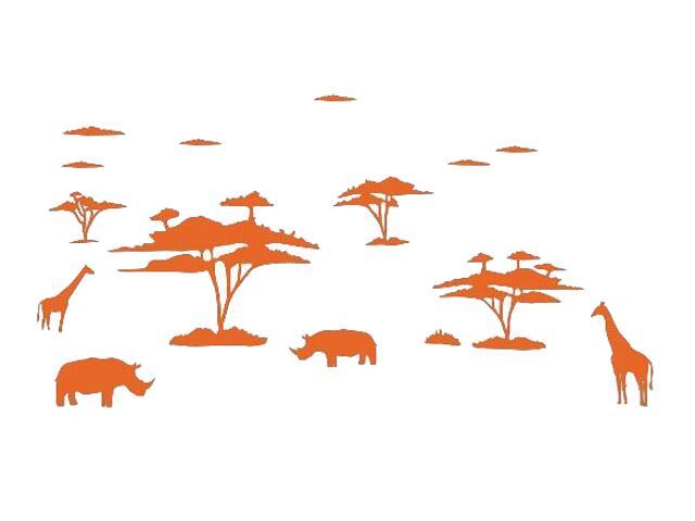 Naklejka dekoracyjna welurowa afrykańskie zwierzęta 673004-1 Klimaty Domu