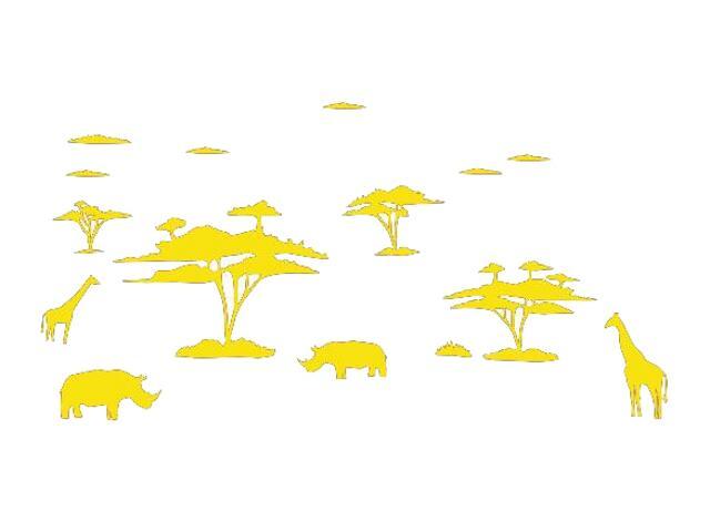 Naklejka dekoracyjna welurowa afrykańskie zwierzęta 673004-3 Klimaty Domu