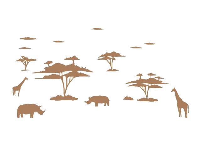 Naklejka dekoracyjna welurowa afrykańskie zwierzęta 673004-8 Klimaty Domu