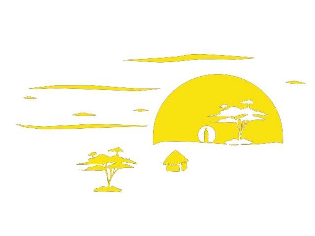Naklejka dekoracyjna welurowa zachód słońca 673005-3 Klimaty Domu